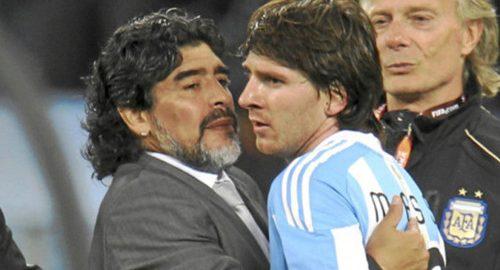 De Argentinië president denkt dat Messi beter is dan Maradona